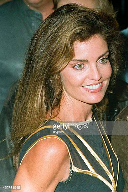 American actress Tracy Scoggins at the premiere of 'Demolition Man' in Westwood California 7th October 1993