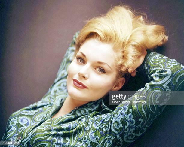 American actress Tuesday Weld wearing a paisley shirt circa 1965