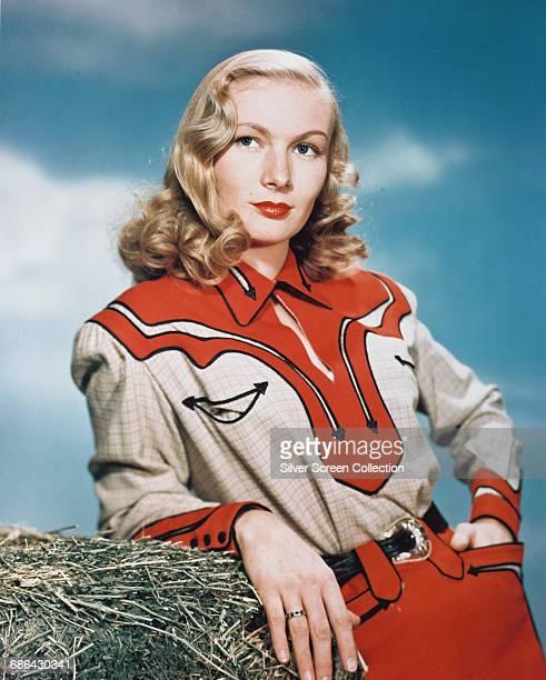 American actress Veronica Lake in western attire circa 1950