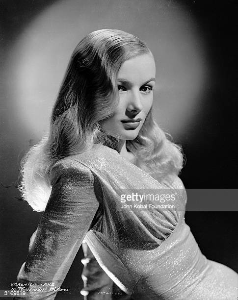 American actress Veronica Lake wearing a dress by legendary Hollywood costume designer Edith Head for her role in 'This Gun For Hire'