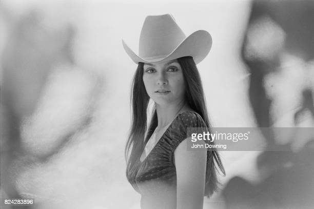 American actress Vicki Principal wearing a cowboy hat 3rd August 1970