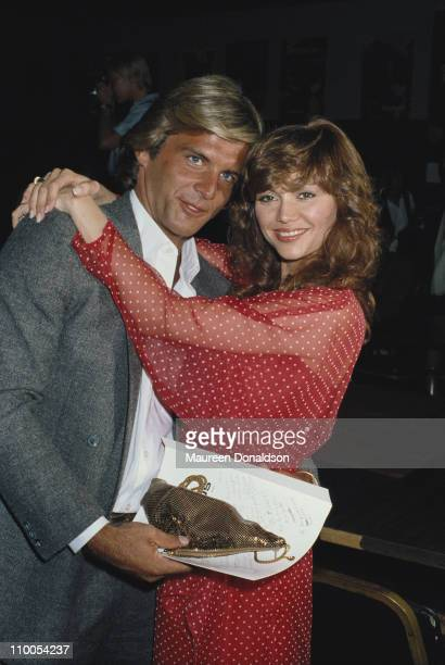 American actress Victoria Principal with her husband Christopher Skinner circa 1979
