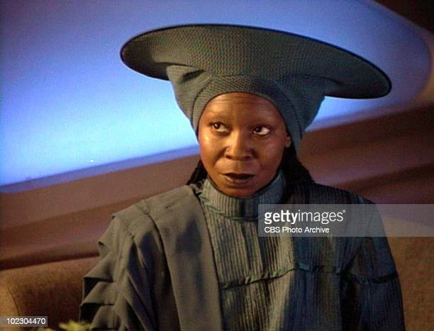 American actress Whoopi Goldberg in a scene from an episode of the television series 'Star Trek: The Next Generation' entitled 'I, Borg,' California,...