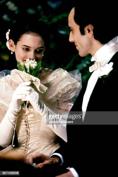 American actress Winona Ryder and British actor Daniel DayLewis on the set of The Age of Innocence based on the novel by Edith Wharton and directed...