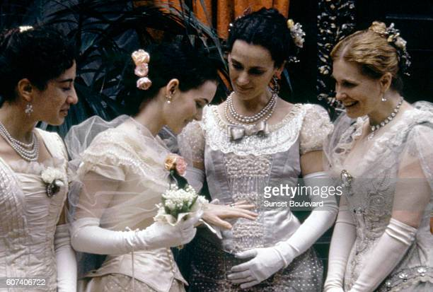 American actress Winona Ryder on the set of The Age of Innocence based on the novel by Edith Wharton and directed by Martin Scorsese