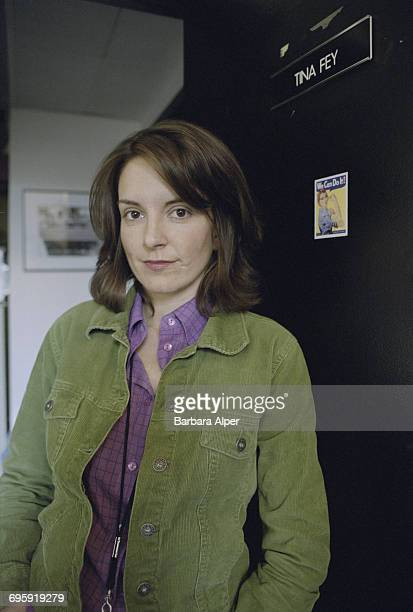American actress writer and comedian Tina Fey in her office in the Rockefeller Center New York City USA 12th November 2001