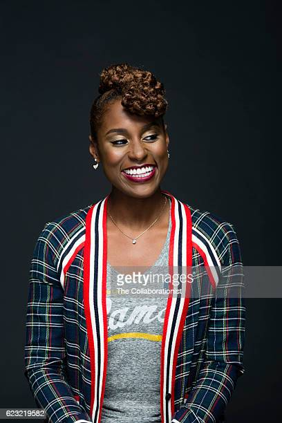 American actress writer director producer and web series creator Issa Rae is photographed for Fast Company Magazine on September 8 2016 in Los...