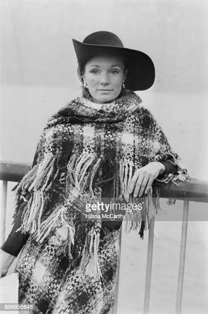 American actress Yvette Mimieux in London for a performance of Stravinsky's melodrame 'Persephone' in which she takes the speaking part, UK, 30th...