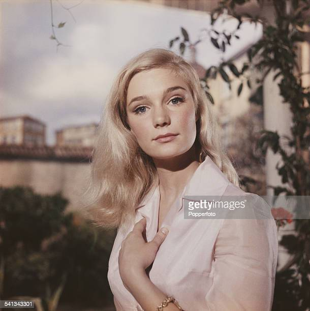American actress Yvette Mimieux who appears in the film 'The Time Machine' pictured in London in 1962