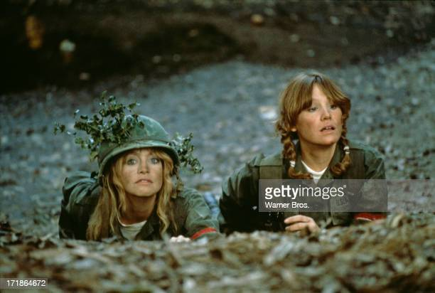 American actresses Goldie Hawn , as Private Judy Benjamin and Mary Kay Place as Private/2nd Lieutenant Mary Lou Glass in 'Private Benjamin', directed...