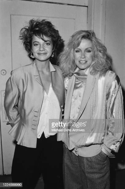 American actresses Justine Bateman and Donna Mills at a Theatre III Group production USA circa 1985