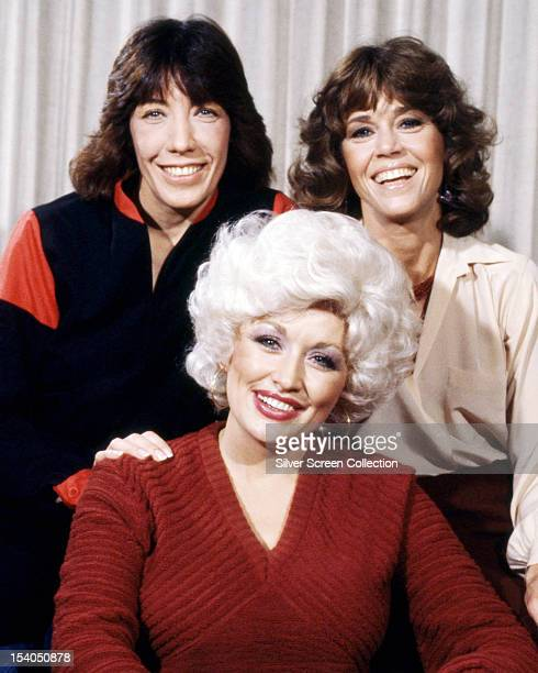 American actresses Lily Tomlin, Dolly Parton and Jane Fonda in a publicity still for '9 to 5', directed by Colin Higgins, 1980.