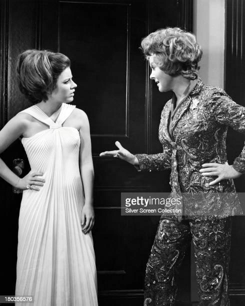 American actresses Patty Duke as Neely O'Hara and Susan Hayward as Helen Lawson in 'Valley Of The Dolls' directed by Mark Robson 1967
