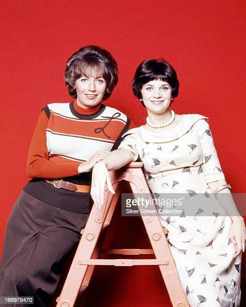 American actresses Penny Marshall as Laverne De Fazio and Cindy Williams as Shirley Feeney in a promotional portrait for the American TV sitcom...