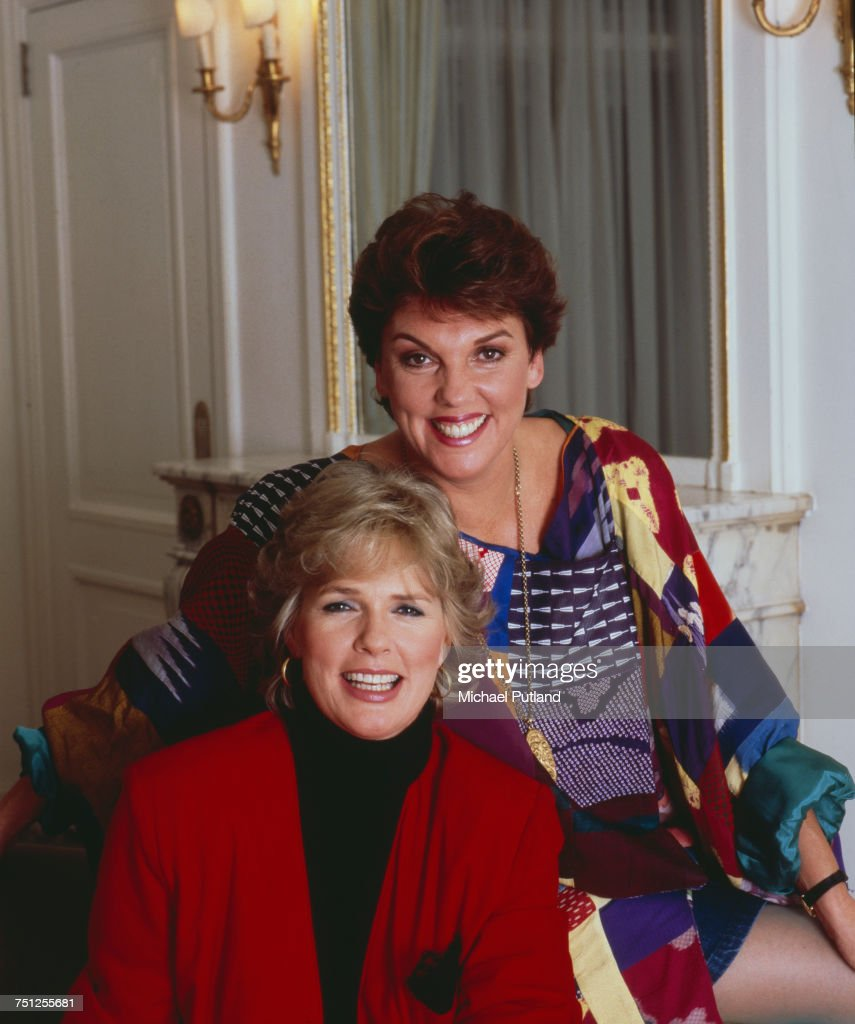 American actresses Sharon Gless (left) and Tyne Daly, stars of the CBS television crime drama series, 'Cagney & Lacey', November 1986.