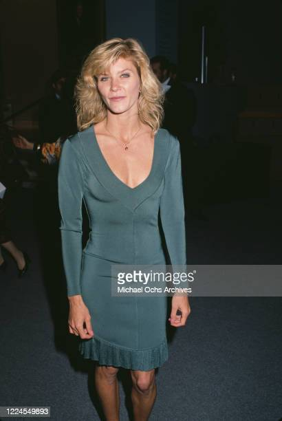 American adult film actress Ginger Lynn Allen attends the premiere of 'Yamagata', held at the Aham Museum in Los Angeles, California, 15th April 1991.