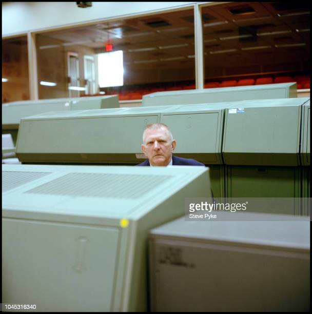 American aerospace engineer retired fighter pilot and former NASA Flight Director and manager gene Kranz at the Nasa Mission Control Centre Houston...