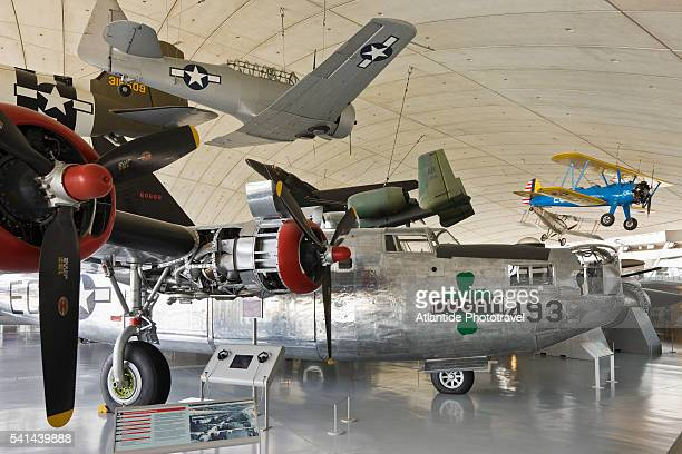 american air museum at the imperial war museum duxford - imperial war museum ストックフォトと画像