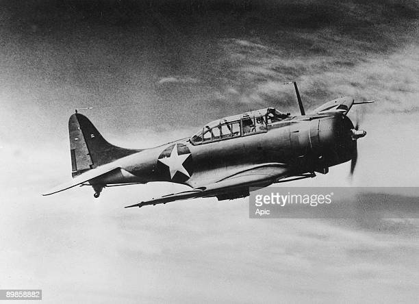 American aircraft Douglas Dauntless divebombers used during great Battle of Midway against japanese in the Pacific War