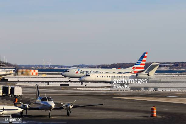 American Airlines Boeing 737 MAX tar fart från Boston Logan