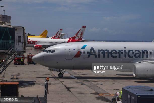 American Airlines Boeing 737-800 with aircraft registration N801NN seen in Caracas Simón Bolívar International Airport, Venezuela. American Airlines...