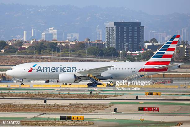 American Airlines Boeing 777323 at LAX on October 03 2016 in Los Angeles California