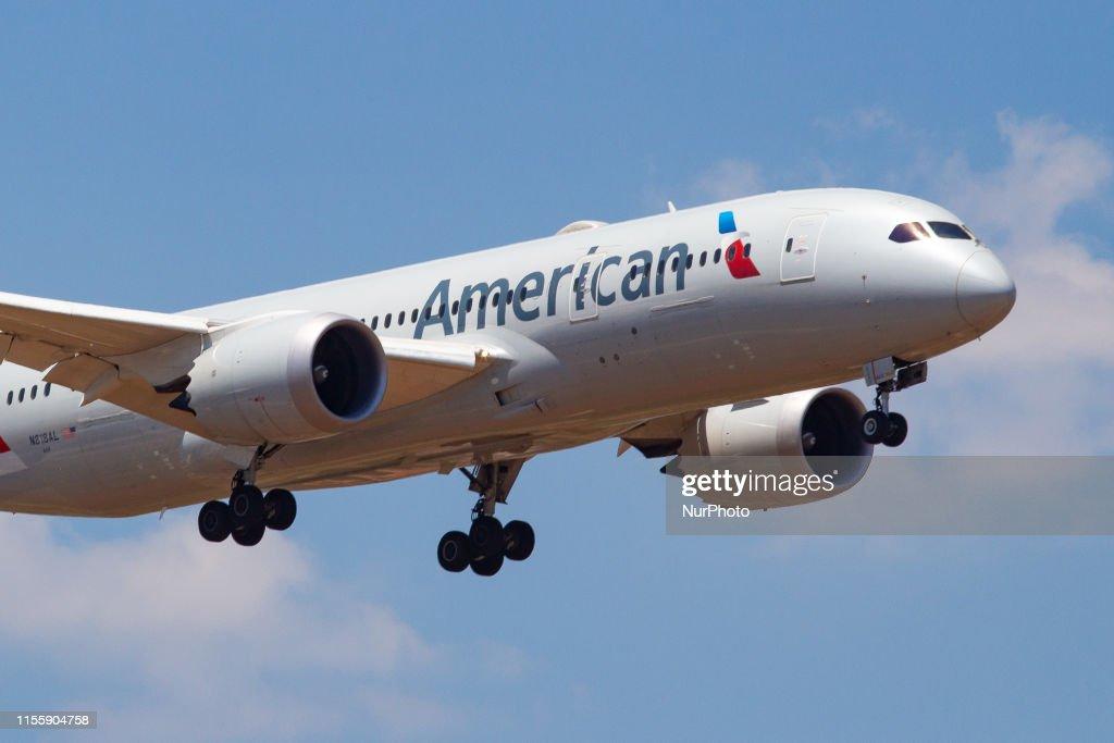 American Airlines Boeing 787 Dreamliner : News Photo