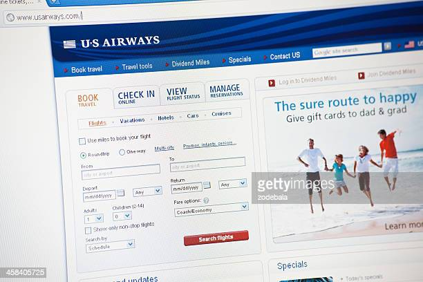 American Airlines Booking Page