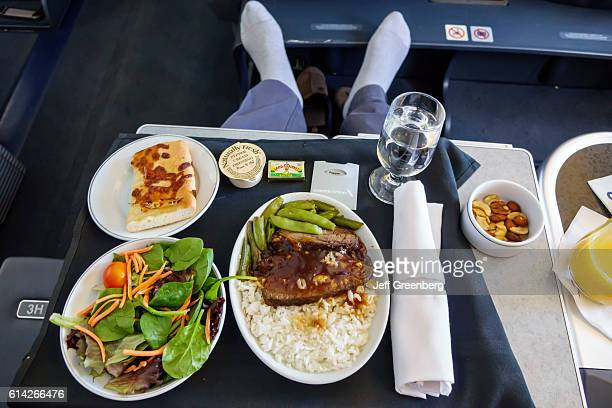 American Airlines business class airline food
