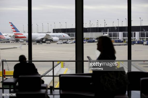 American Airlines Group Inc planes sit on the tarmac during an event to mark the opening of five new gates inside Terminal 3 at O'Hare International...