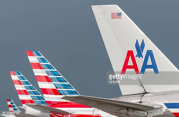 american airlines vergangenheit und gegenwart - american airlines stock-fotos und bilder
