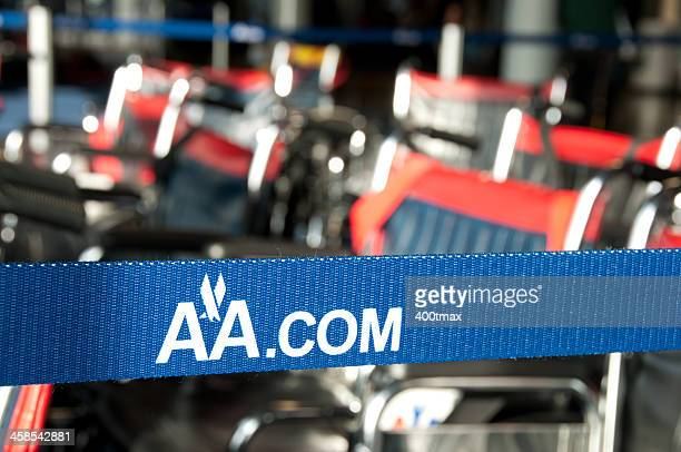 american airlines retractable barrier belt - american airlines stock pictures, royalty-free photos & images