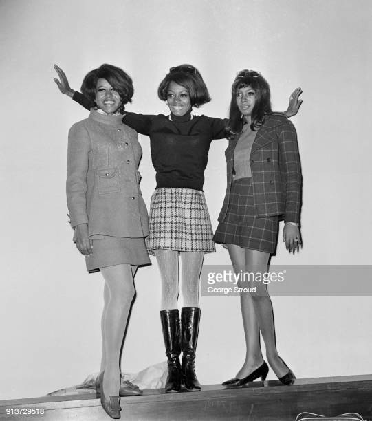 American allfemale singing group The Supremes at Heathrow Airport London UK 22nd January 1968