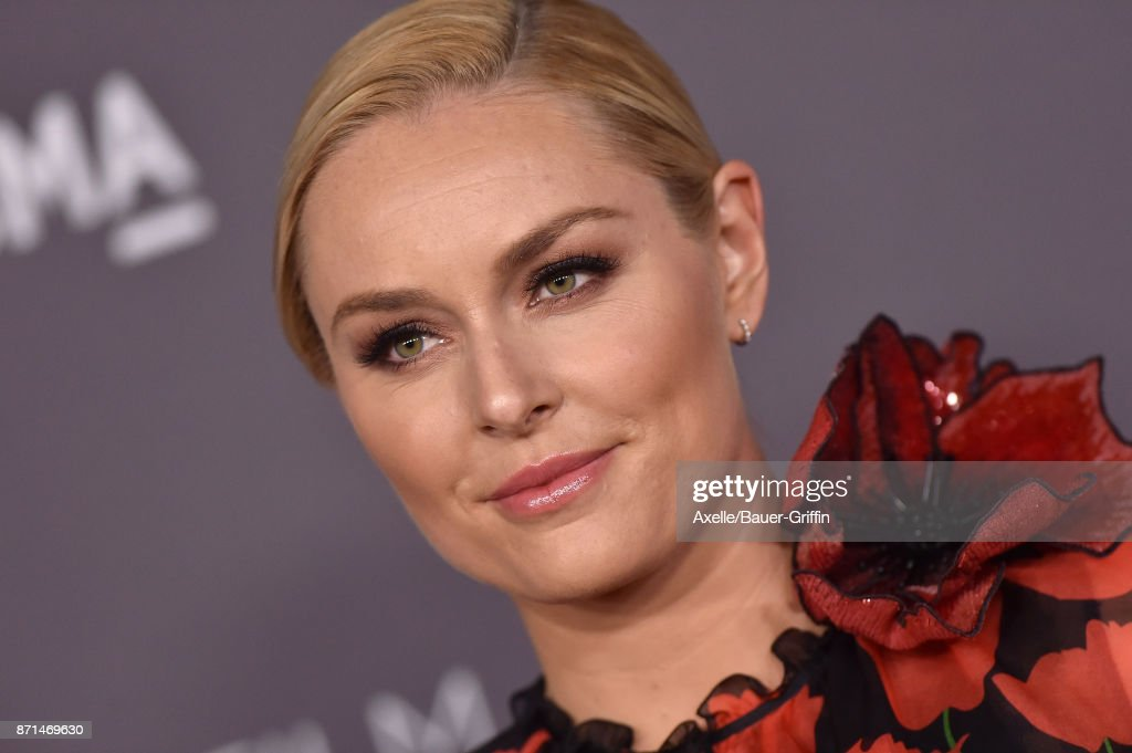 American alpine ski racer Lindsey Vonn arrives at the 2017 LACMA Art + Film Gala at LACMA on November 4, 2017 in Los Angeles, California.