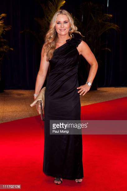 American alpine skier Lindsey Vonn arrives at the 2010 White House Correspondents' Association Dinner at the Washington Hilton on May 1 2010 in...