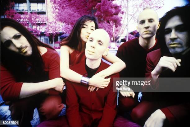 American alternative rock band A Perfect Circle guitarist Troy Van Leeuwen lead vocalist Maynard James Keenan bassist/violinist Paz Lenchantin lead...