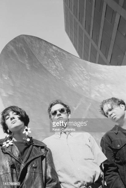 American alternative rock group Galaxie 500 29th September 1990 Left to right Naomi Yang Dean Wareham and Damon Krukowski