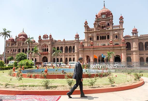 American Ambassador to India, Mr.Richard Verma, takes a tour of the grand Khalsa College on May 20, 2015 in Amritsar, Punjab State of India. Founded...