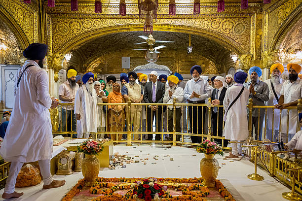 American Ambassador to India MrRichard Verma visiting the shrine at the Harmandir Sahi or `Golden Temple` the holiest Sikh gurdwara on May 20 2015 in.