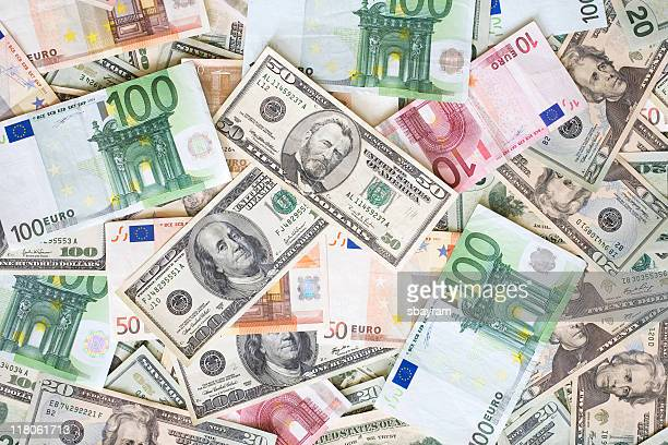 American and Euro paper money