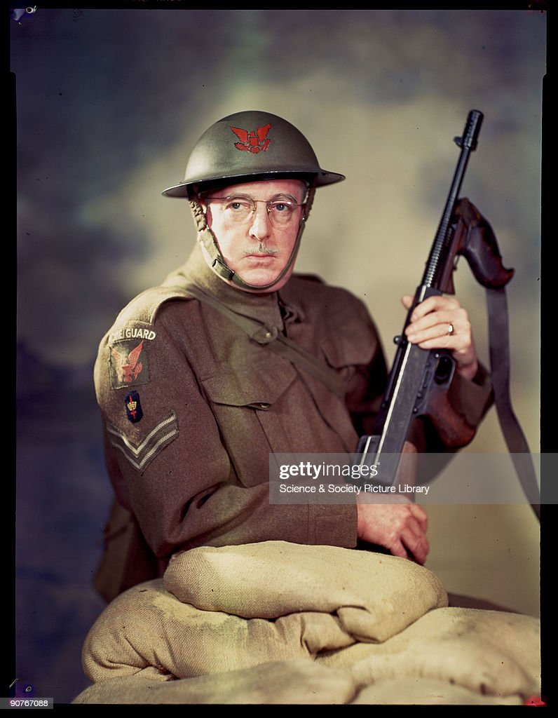 C. Howard Crane In Home Guard Uniform : News Photo