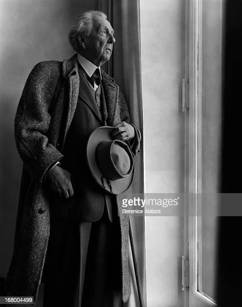 American architect Frank Lloyd Wright 1950
