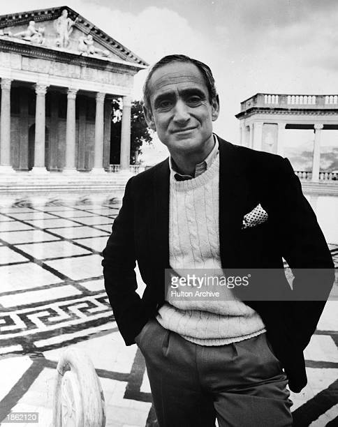 American architect Robert AM Stern stands on the grounds of Hearst Castle in a promotional portrait for the PBS Television series 'Pride of Place'...