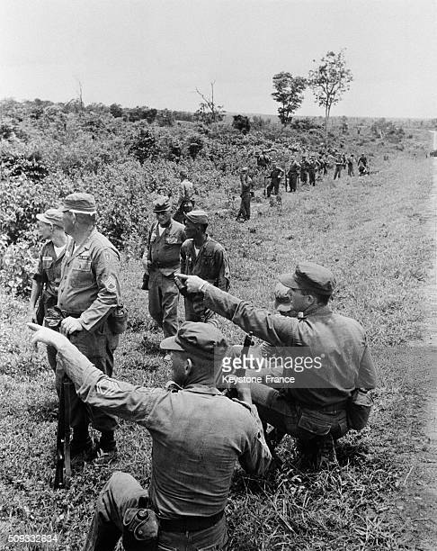 American Army 27th Infantry Battalion Soldiers During Manoeuvres At the Thailand Border in Laos on June 5 1962