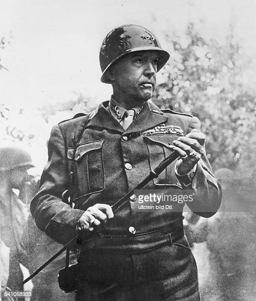 GEORGE SMITH PATTON American army officer Photograph 1944