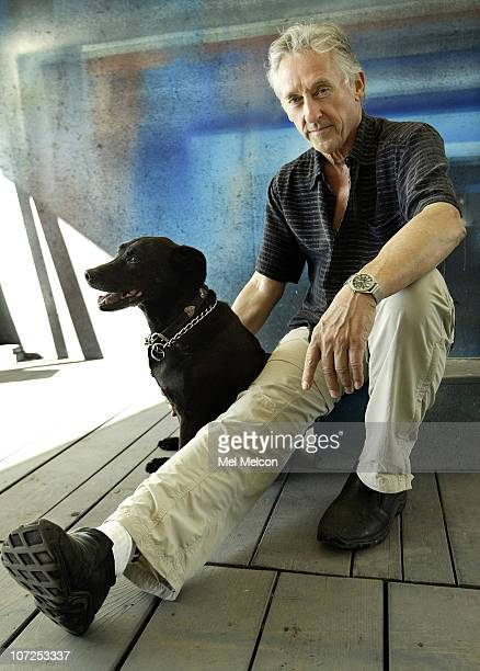 American Artist Ed Ruscha poses for a portrait session for the Los Angeles Times on May 9 Venice, CA. Published Image. CREDIT MUST READ: Mel...