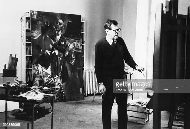 American artist Jack Levine in his studio New York New York February 27 1962