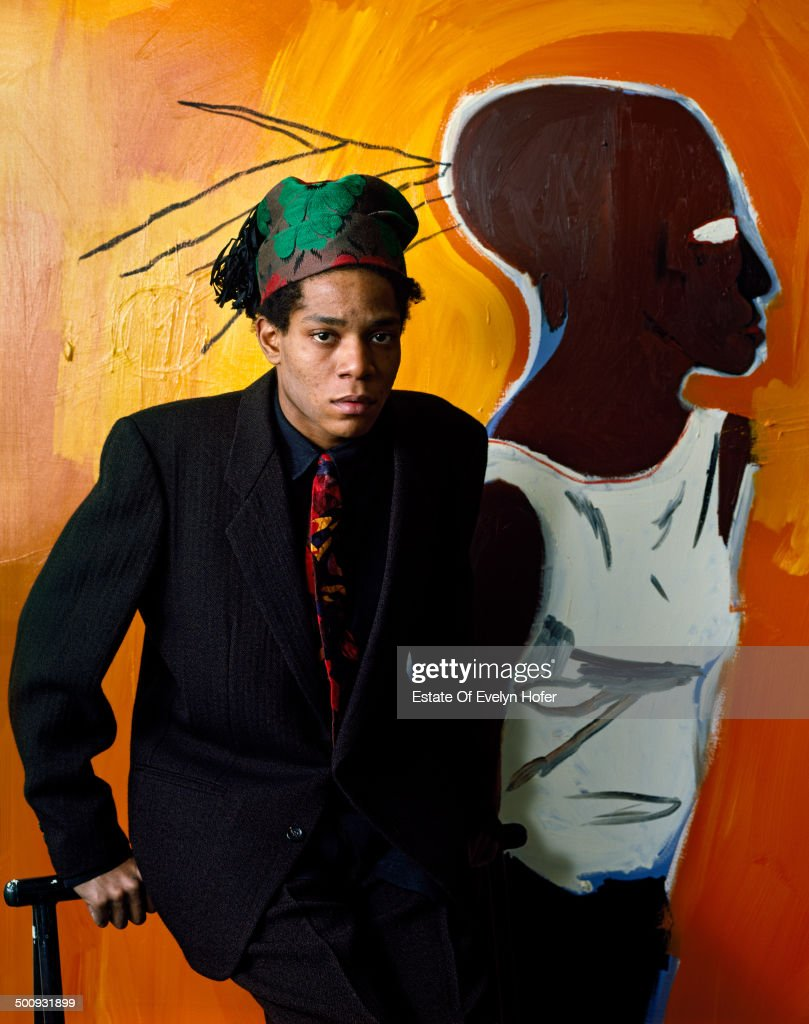 American artist Jean-Michel Basquiat (1960 - 1988), New York, 1985.