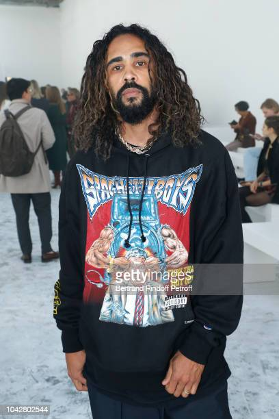 American artist Jeremy Lorenzo attends the Haider Ackermann show as part of the Paris Fashion Week Womenswear Spring/Summer 2019 on September 29 2018...