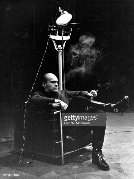 American artist Jim Dine performs in his' Natural History ' happening at the First New York Theatre Rally New York New York April 30 1965